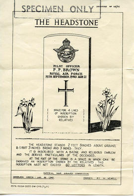 Document: Template of RCAF Gravestone