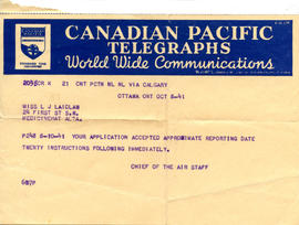 Document: Telegram to Laidlaw