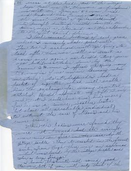 Document: Letter from Harold Kearl to his Mother and Father - Page 1